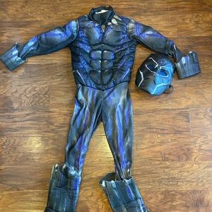 Black panther youth small costume